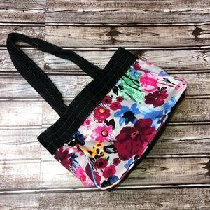 Thirty-One floral tote handbag purse fabric